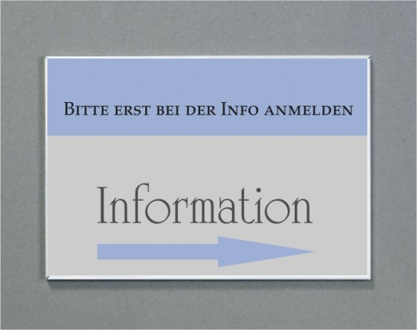 Wandschild | System Karlsruhe | DIN A3 quer